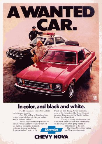 Image of the 1977 Chevrolet Nova advertisment: A Wanted Car