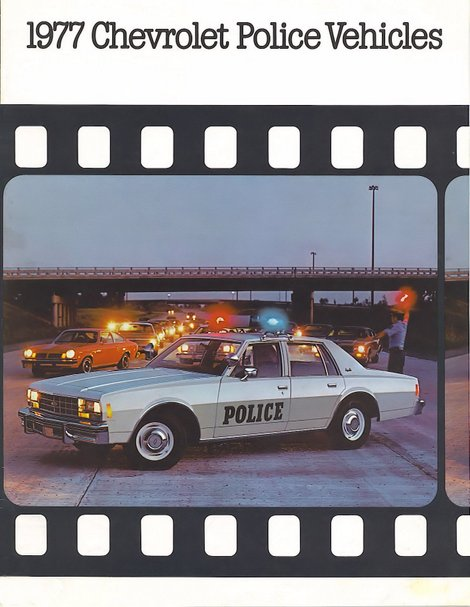 Image of the 1977 Chevrolet Police Brochure page 1