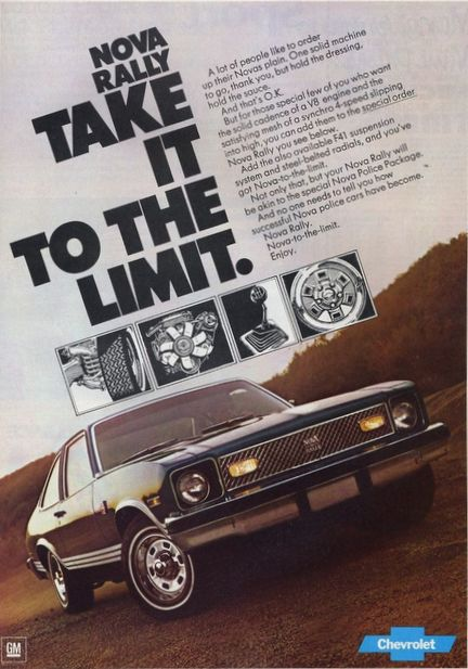 Image of the 1977 Chevrolet Rally Nova AD: Take it to the limit