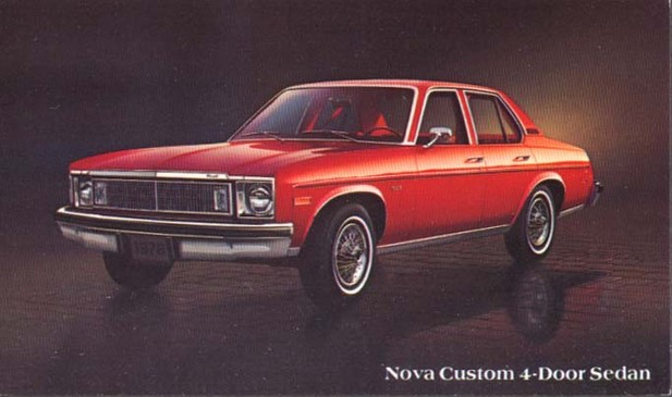 Image of the 1978 Chevrolet Nova Custom 4-Door Sedan Post Card