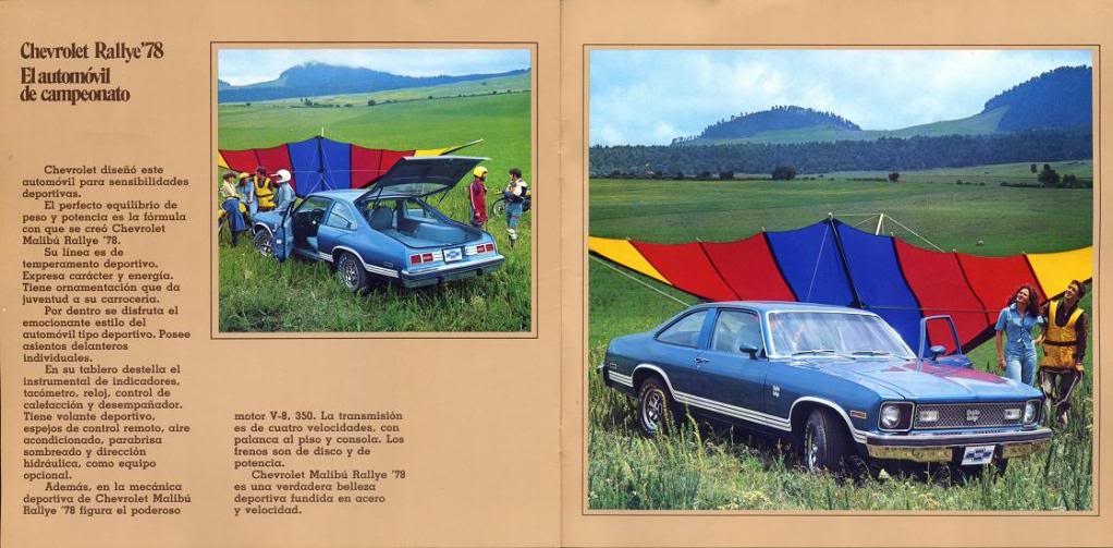 Image of the spanish Chevrolet advertisement featuring the 1978 Chevrolet Nova