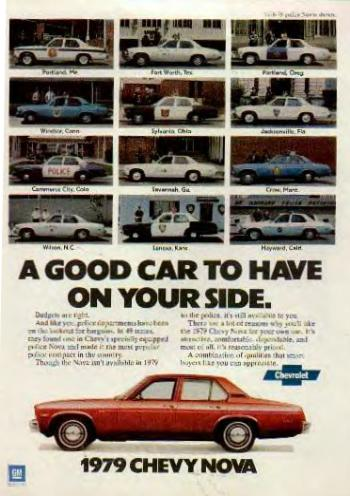 Image of the 1978 Nova advertisement: A Good Car to have at your side