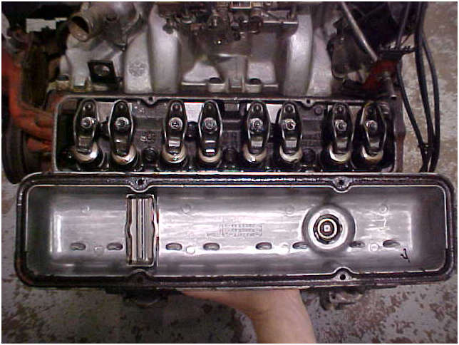 1970 Original LT1 Engine cylinder head and valve cover