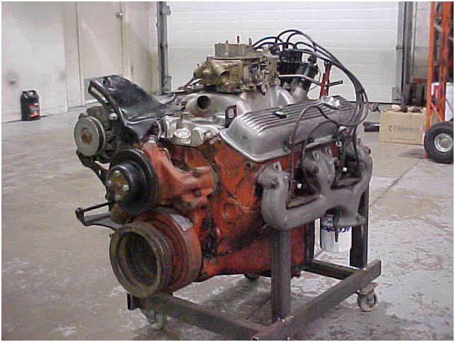 1970 original lt1 engine front 2