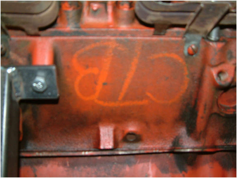 1970 Original LT1 Engine drivers side code