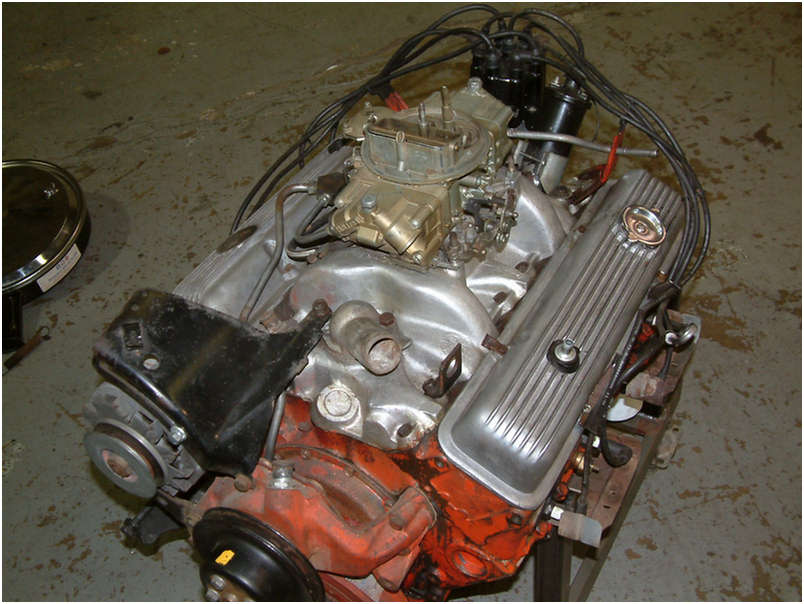 1970 Original LT1 Engine top view